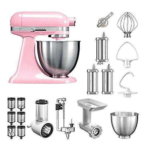 kitchenaid k chenmaschine mini 5ksm3311xe bestseller paket inkl top zubeh r gem seschneider. Black Bedroom Furniture Sets. Home Design Ideas