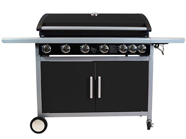 Test Gasgrill Mit Seitenbrenner : Traedgard® gasgrill indio 700 schwarz grill mit 7 brennern