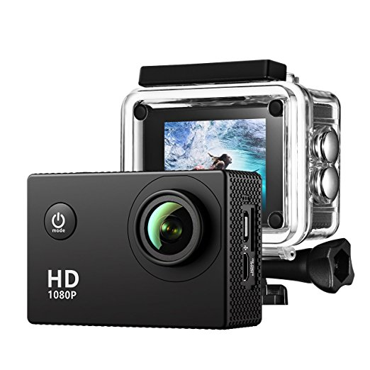 2 0 zoll action kamera sports action camera 12mp full hd. Black Bedroom Furniture Sets. Home Design Ideas