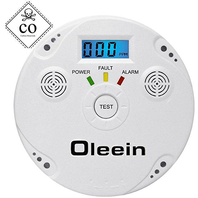 oleein co melder kohlenmonoxid co detektor batteriebetrieben sensor und alarm mit digitalanzeige. Black Bedroom Furniture Sets. Home Design Ideas