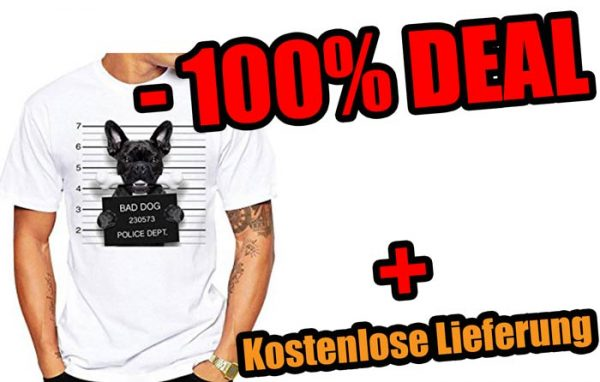 big sale 3418e 67440 Dihope Herren Sommer T-Shirt Kurzarm Tops Sport Hemd Casual Oberteil Bluse  mit Hunde Aufdruck -100%