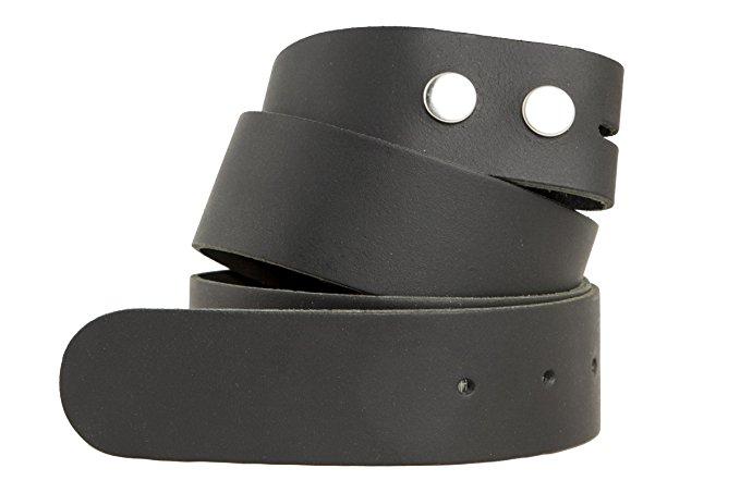 Echt Ledergürtel dunkelbraun 4 cm ohne Schnalle Wechselgürtel Gürtel Rindsleder