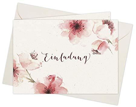 20 Einladungskarten Kirschblüten Din A6 Im Set